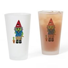Zombie Gnome Drinking Glass