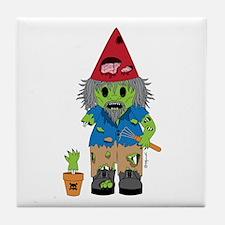 Zombie Gnome Tile Coaster