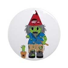 Zombie Gnome Ornament (Round)