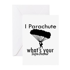 I Parachute Greeting Cards (Pk of 10)