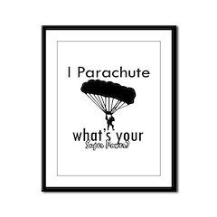 I Parachute Framed Panel Print