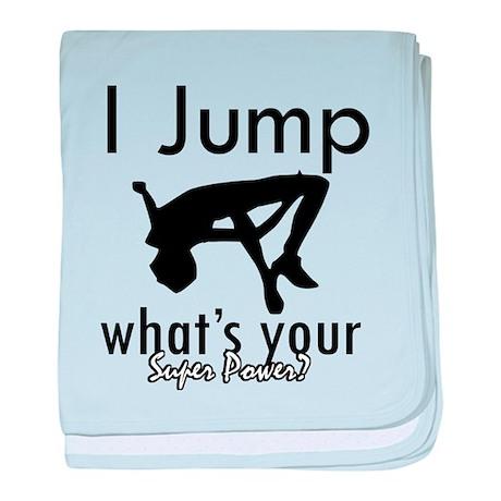 I Jump baby blanket