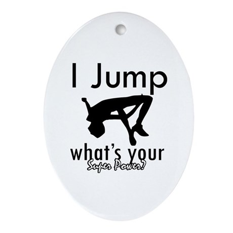 I Jump Ornament (Oval)
