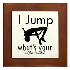 I Jump Framed Tile