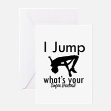 I Jump Greeting Card
