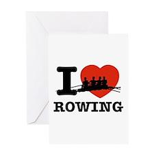 I love Rowing Greeting Card