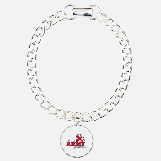 Proud Army Grandma - Charm Bracelet, One Charm