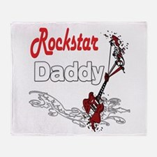 Rockstar Dad Throw Blanket