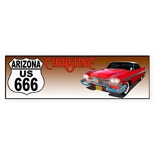 666-AZ-Christine-bump Bumper Bumper Sticker