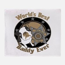 Top Dog Daddy Throw Blanket