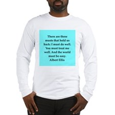 Albert Ellis quote Long Sleeve T-Shirt