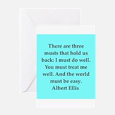 Albert Ellis quote Greeting Card