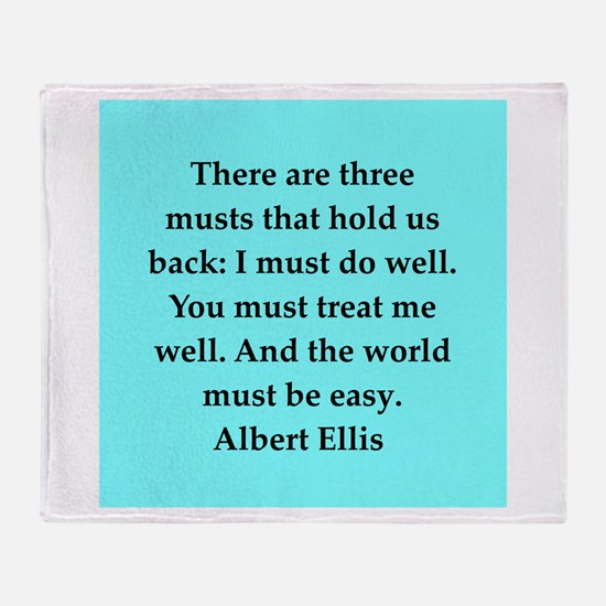Albert Ellis quote Throw Blanket