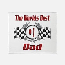 Number 1 Dad Throw Blanket