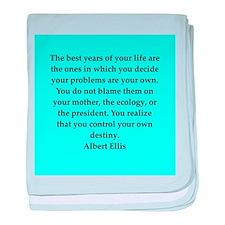 Albert Ellis quote baby blanket