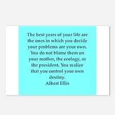 Albert Ellis quote Postcards (Package of 8)
