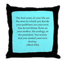 Albert Ellis quote Throw Pillow