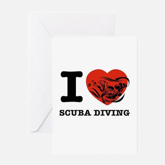 I love Scuba diving Greeting Card