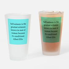 Albert Ellis quote Drinking Glass