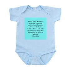 Albert Ellis quote Infant Bodysuit