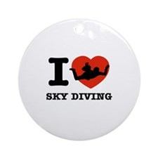 I love Sky diving Ornament (Round)