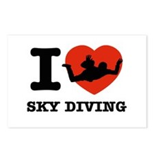 I love Sky diving Postcards (Package of 8)