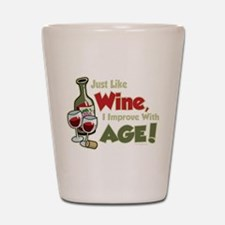 Wine Improve With Age Shot Glass