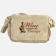 Wine Is Cheaper Than Therapy Messenger Bag