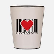 I Love Coupons Shot Glass