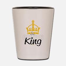 Coupon King Shot Glass