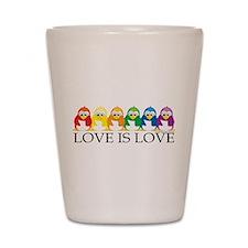 Love Is Love: Penguins Shot Glass