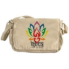 LGBTQ Lotus Flower Messenger Bag
