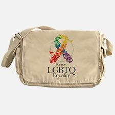 LGBTQ Ribbon of Butterflies Messenger Bag