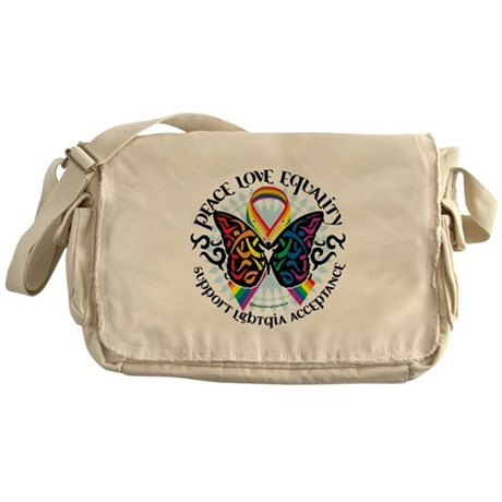 LGBT Peace Love Equality Messenger Bag