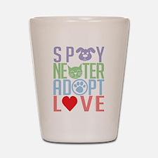 Spay Neuter Adopt Love 2 Shot Glass