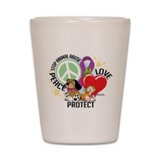 Stop Animal Abuse PLP Shot Glass