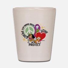 Stop Animal Abuse PLP Shot Glass