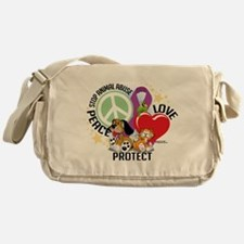 Stop Animal Abuse PLP Messenger Bag