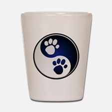 Paw Ying Yang Shot Glass