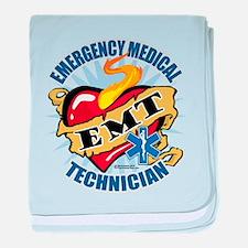 EMT Classic Heart Tattoo baby blanket