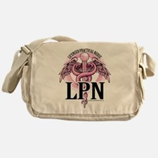 LPN Caduceus Pink Messenger Bag