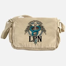 LPN Caduceus Blue Messenger Bag