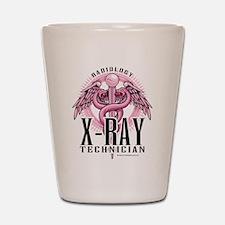 X-Ray Tech Caduceus Pink Shot Glass