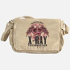 X-Ray Tech Caduceus Pink Messenger Bag