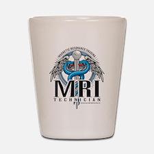 MRI Tech Caduceus Blue Shot Glass
