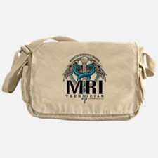MRI Tech Caduceus Blue Messenger Bag