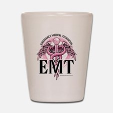 EMT Caduceus Pink Shot Glass
