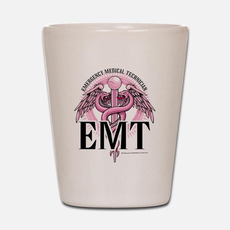 EMT Caduceus Pink Shot Glass