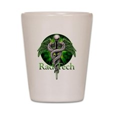 Rad Tech Caduceus Green Shot Glass