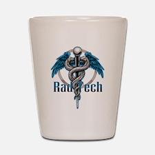 Rad Tech Caduceus Blue Shot Glass